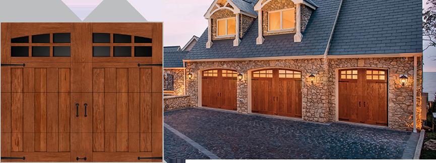 Clopay productos for Puertas de madera para garage